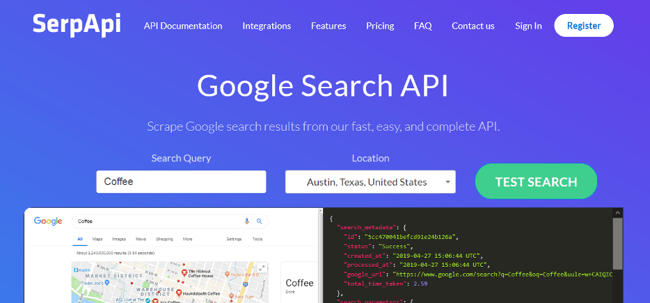 search result api